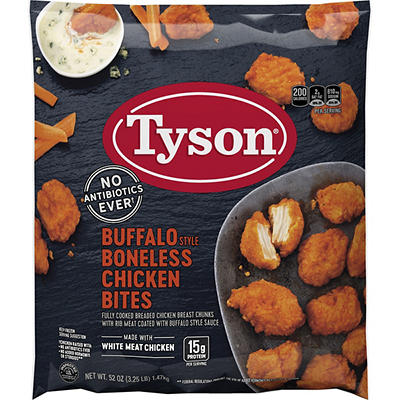 Tyson Frozen Buffalo Style Boneless Chicken Bites, 3.25 lbs.