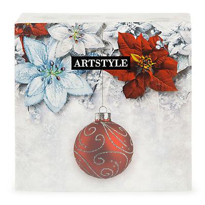 "Artstyle 13"" Napkins, 120 ct. - Simmering Poinsettia"