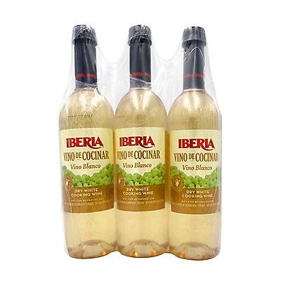 Iberia Vino de Concinar Dry White Cooking Wine, 3 pk./25.4 fl. oz.