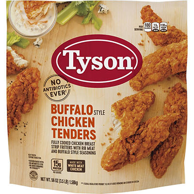 Tyson Frozen Fully Cooked Buffalo Style Chicken Tenders, 3.5 lbs.