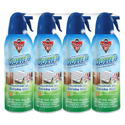 Dust-Off Duster Compressed Gas Instant Dust Remover, 4 pk./10 oz.