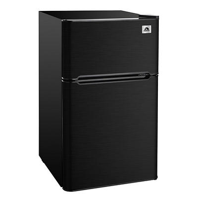 Igloo 3.2-Cu.-Ft. 2-Door Refrigerator/Freezer - Black Stainless