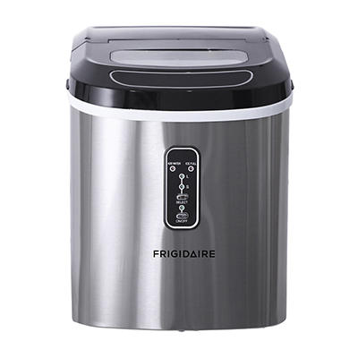 Frigidaire 26-lb. Compact Ice Maker - Stainless Steel