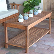 W. Trends Acacia Wood Patio Coffee Table - Brown