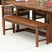 W. Trends Outdoor Hunter Acacia Wood Dining Bench - Dark Brown