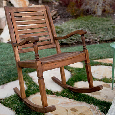 W. Trends Acacia Wood Patio Chair - Dark Brown