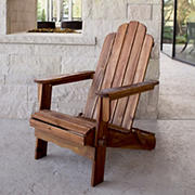 W. Trends Folding Acacia Wood Adirondack Chair - Brown