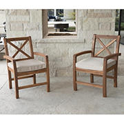 W. Trends Outdoor Alder Acacia Wood Chairs