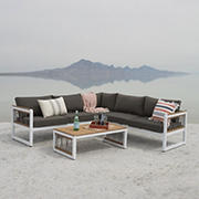 W. Trends 4-Pc. Outdoor Sectional with Cord Accents - White