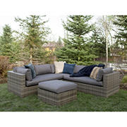 W. Trends 4-Pc. Multi-Shade Rattan Sectional Set - Gray
