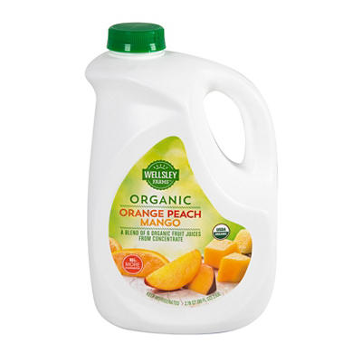Wellsley Farms Organic Orange Peach Mango Juice, 89 fl. oz.