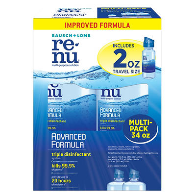 Renu Multi-Purpose Advanced Formula Contact Solution, 2 pk./16 oz. wit