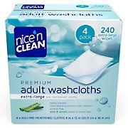 Nice 'n Clean Premium Adult Pre-Moistened Washcloths, 4 pk./60 ct.