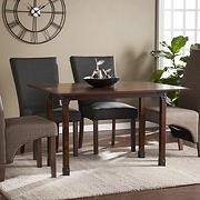 SEI Denton Flip-Top Table - Distressed Warm Brown with Rustic Black