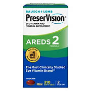 PreserVision Eye Vitamin and Mineral Supplement AREDS 2 Formula Softgels, 210 ct.