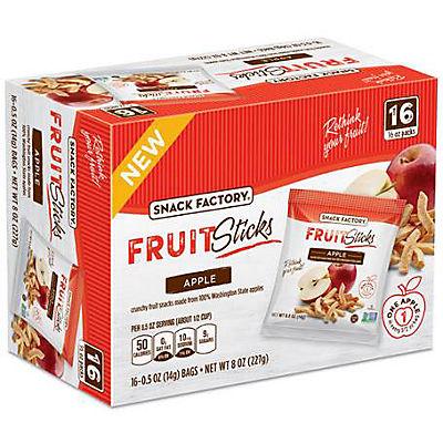 Snack Factory Apple Fruit Sticks, 16 pk./0.5 oz.