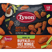 Tyson Frozen Buffalo Style Hot Chicken Wings, 5 lbs.