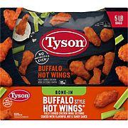 Tyson Frozen Buffalo Style Hot Chicken Wings, 5 lbs.