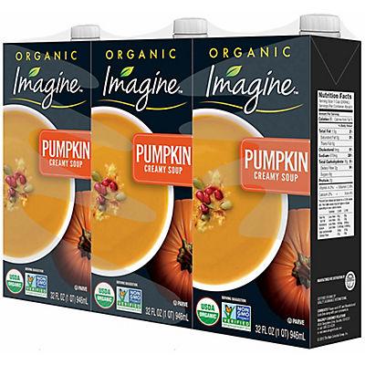 Imagine Creamy Pumpkin Soup, 3 pk./32 fl. oz.