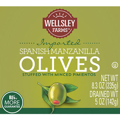 Wellsley Farms Stuffed Manzanilla Olives, 6 pk.