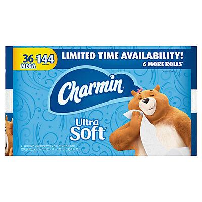 Charmin Ultra Soft 284-Sheet Toilet Paper, 36 pk.