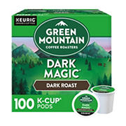 Green Mountain Coffee Roasters Dark Magic, Keurig Single-Serve K-Cup pods, Dark Roast Coffee, 100 Count