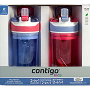 Contigo Kids Drink & Snack 2-in-1 Spill Proof Tumblers, 2 pk.