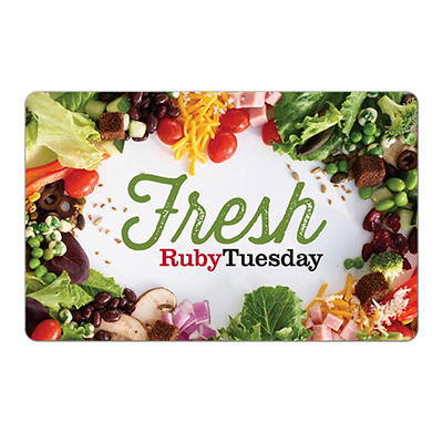 $25 Ruby Tuesday Gift Card, 2 pk.