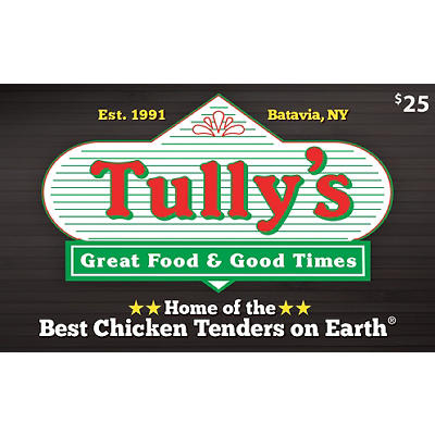$25 Tully's Good Times Restaurant Gift Card, 2 pk.
