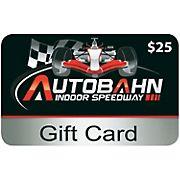 $25 Autobahn Indoor Speedway Gift Card, 2 pk.
