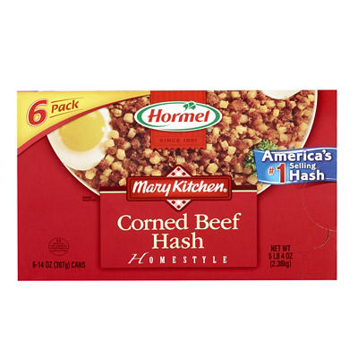 Hormel Mary's Kitchen Corned Beef Hash, 6 pk./14 oz.