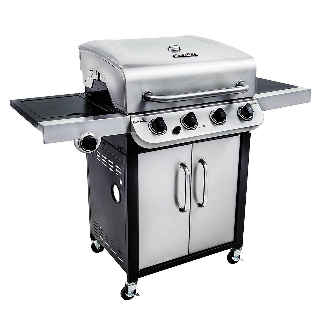 Char-broil stainless steel performance 4-burner gas grill bjs.