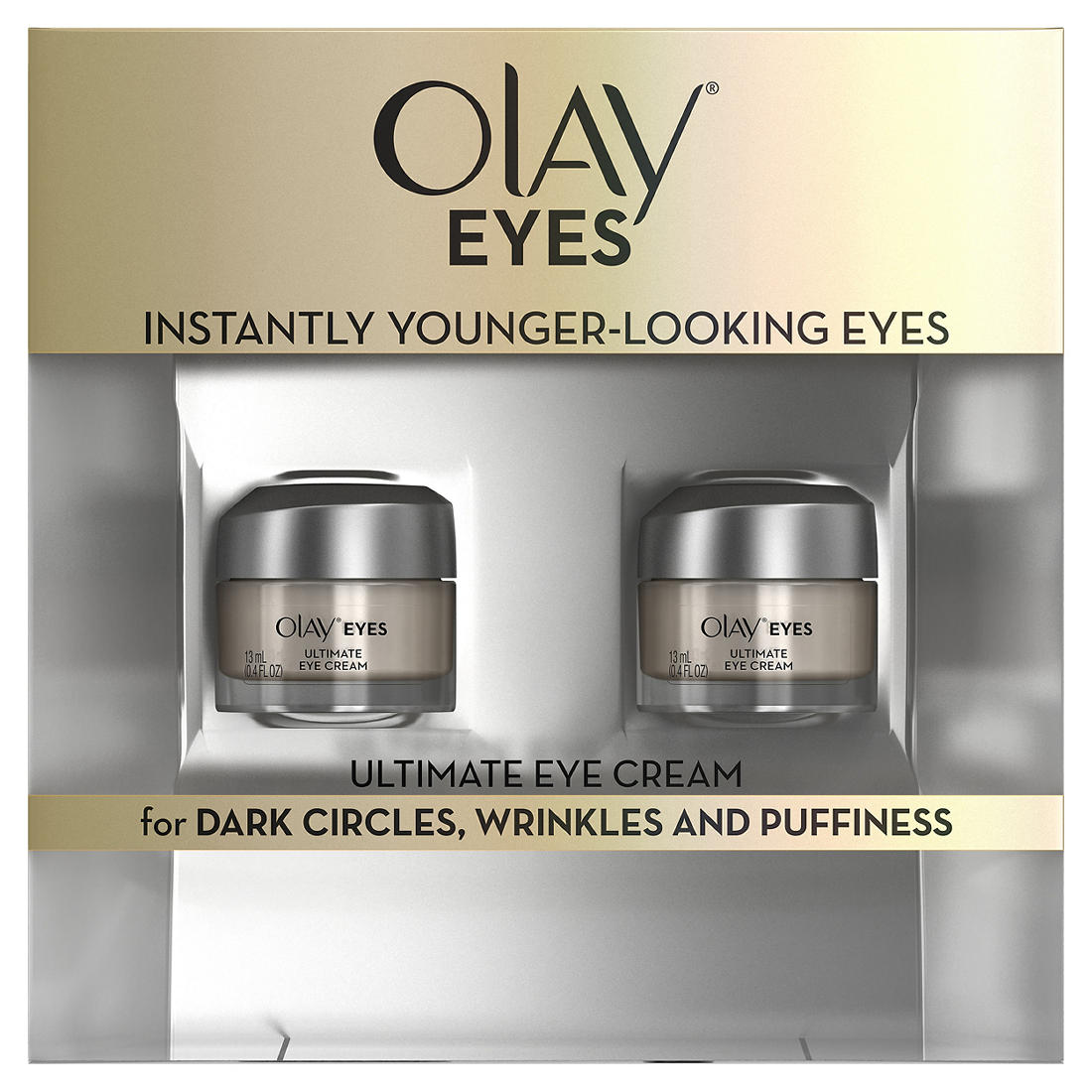 Olay Ultimate Eye Cream For Wrinkles Puffy Eyes Dark Circles 2 Pk 0 4 Fl Oz Bjs Wholesale Club