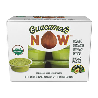 Cabo Fresh Guacamole Snack Packs, 10 ct./2 oz.