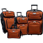 Traveler's Choice Amsterdam 4-Pc. Luggage Set - Orange