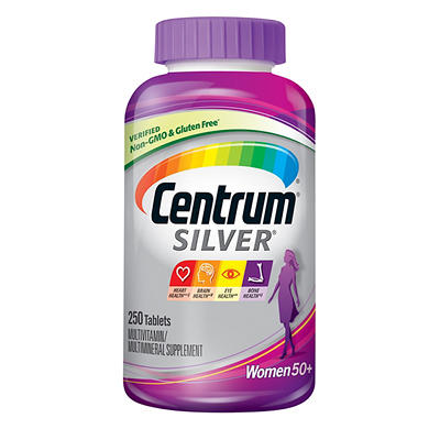 Centrum Silver Ultra Women's Multivitamin and Multimineral Supplement Tablets, 250 ct.