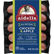 Aidells Smoked Organic Chicken Sausage, Chicken & Apple, 10 ct./3.2 oz.