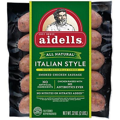Aidells Italian Style Smoked Chicken Sausage with Mozzarella Cheese, 3
