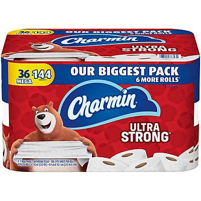 Charmin Ultra-Strong Mega 308-Sheet 2-Ply Toilet Paper Rolls, 36 pk.