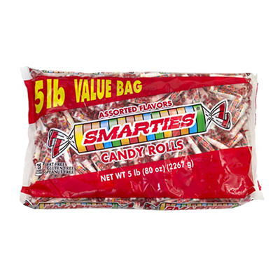 Smarties Candy Rolls Value Bag, 5 lbs.