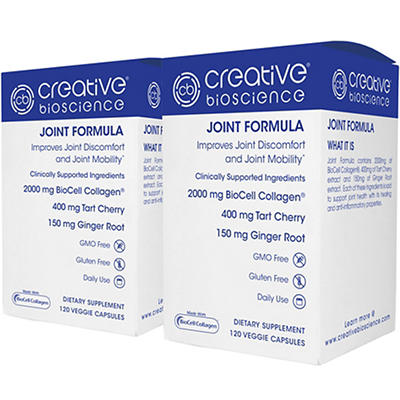 Creative Bioscience Joint Formula Dietary Supplement Veggie Capsules,