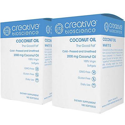 Creative Bioscience Coconut Oil Dietary Supplement Softgels, 2 pk./180