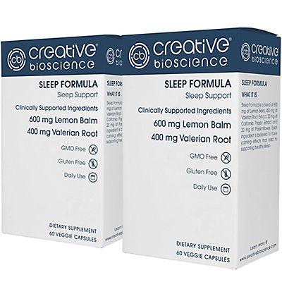 Creative Bioscience Sleep Formula Dietary Supplement Veggie Capsules,