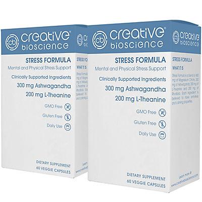 Creative Bioscience Stress Formula Dietary Supplement Veggie Capsules,