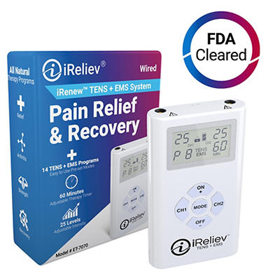 iReliev TENS and EMS Unit Strength and Recovery System