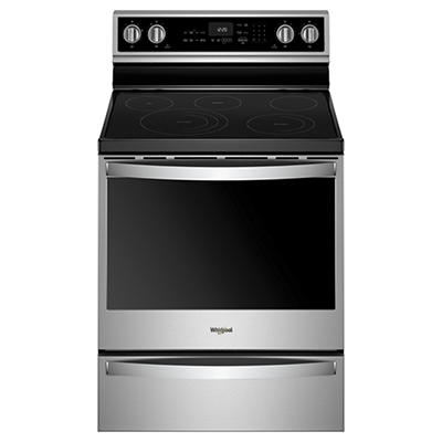 Whirlpool 6.4-Cu.-Ft. Freestanding Electric Range - Stainless Steel