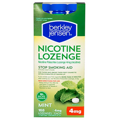 Berkley Jensen 4mg Nicotine Polacrilex Lozenges, 168 ct.