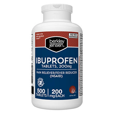 Berkley Jensen 200mg Ibuprofen Tablets, 500 ct.