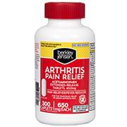 Berkley Jensen 650mg Arthritis Pain Relief Extended-Release Tablets, 300 ct.
