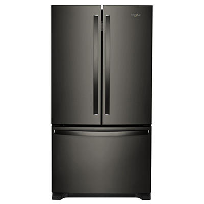 Whirlpool 25-Cu.-Ft. French Door Bottom-Mount Refrigerator - Black Sta